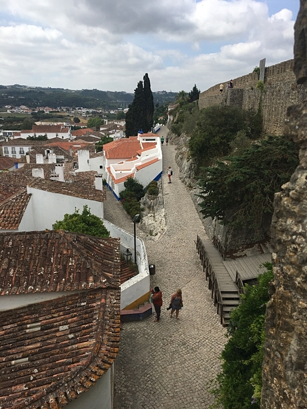View of Óbidos from the Wall