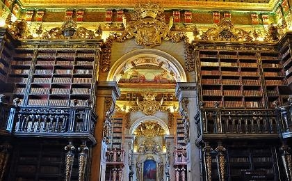 Interior of the Biblioteca Joanina