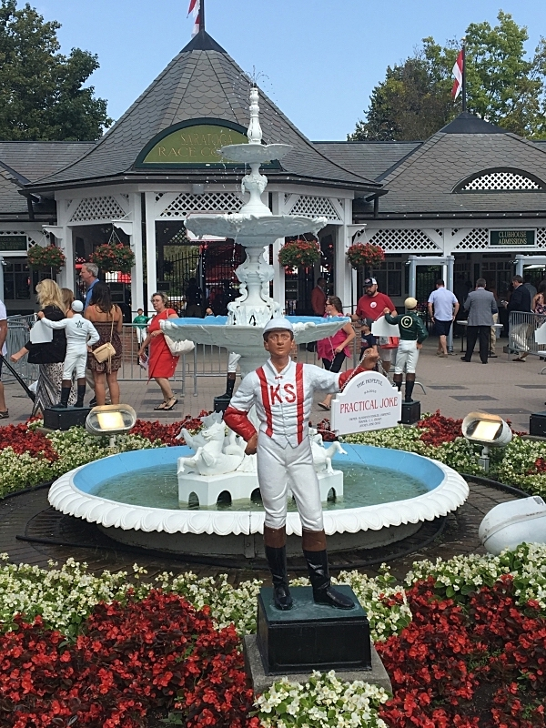 Jockey Statues at entrance to Saratoga Racetrack