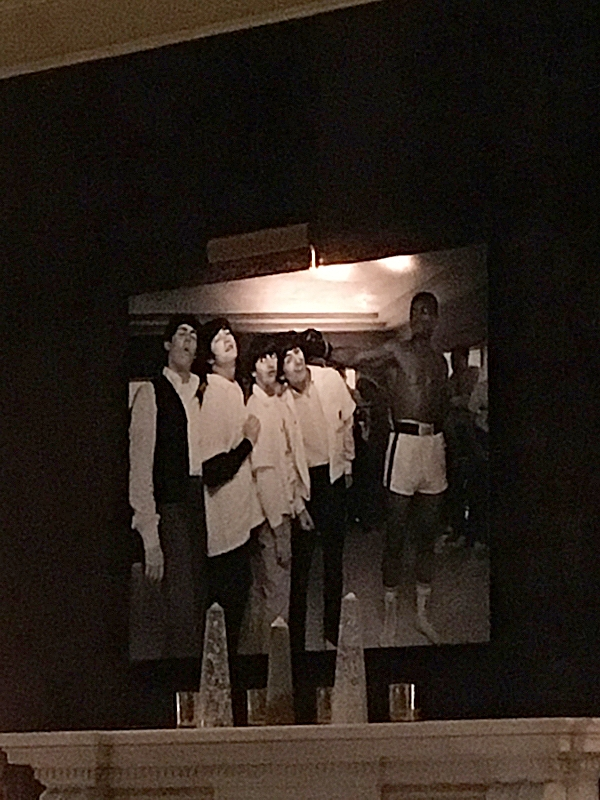 Photo of the Beatles and Ali
