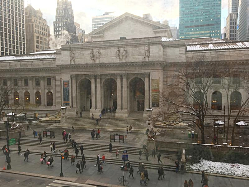 My View of New York Public Library at Bryant Park