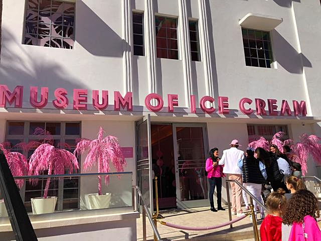 Entrance to the Museum of Ice Cream Miami
