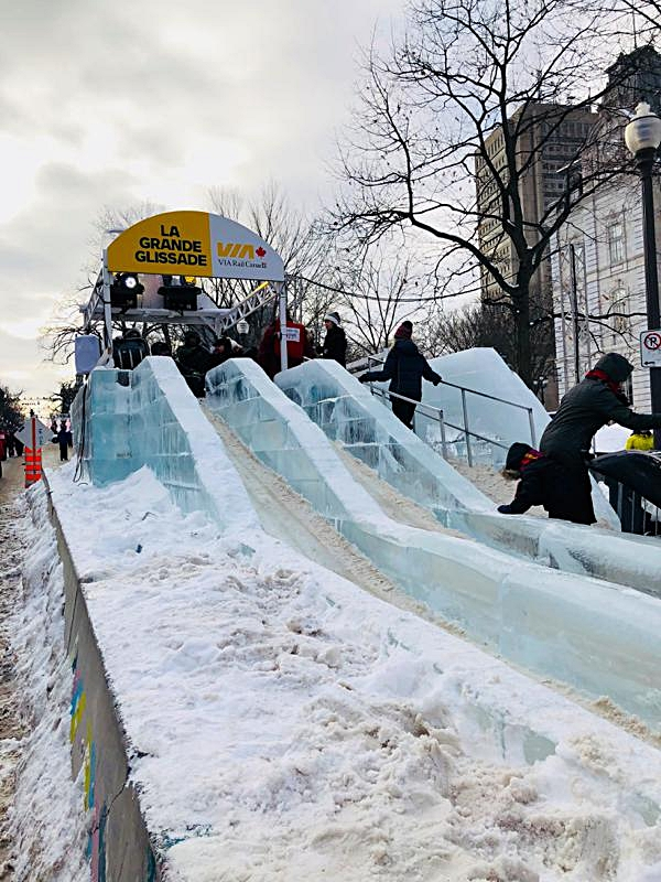 Start of the Via Rail Ice Slide