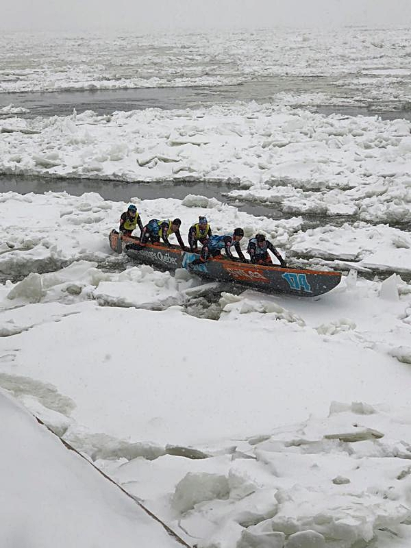 Ice Canoes on Iceberg