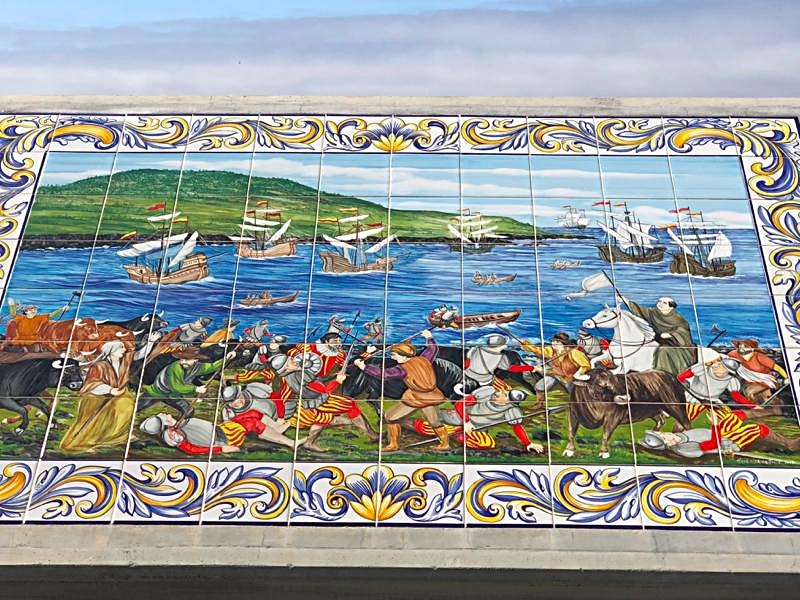 Tile Art Depicting The Attack on the Bay of Salga,  1581