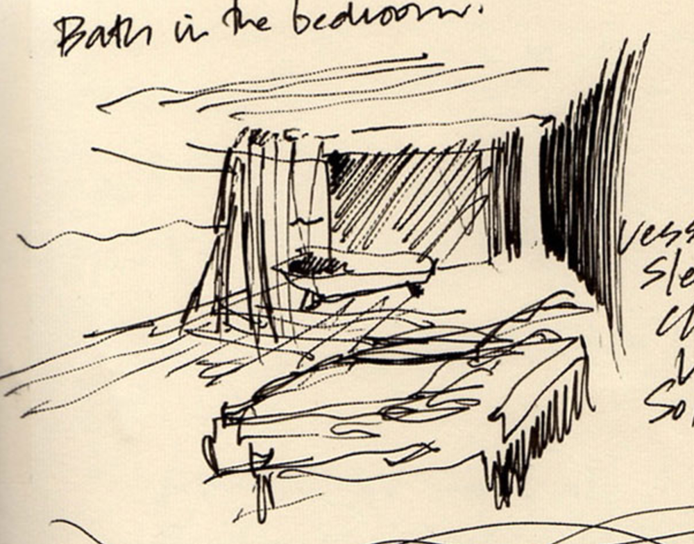 5. Urban Interior 1998 (Ink on paper).  LS Collection, Ak.