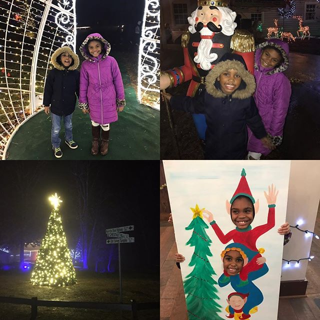 Michal and Micah had a ball at the #explorepark @explorerecreation #holidayvillage talking to Santa, making crafts, buying gifts for others and looking at the Christmas lights.  If you haven't been I recommend taking a trip anytime from 6 pm to 10pm on the days they are open.  They have live entertainment, miniature golf food, carriage rides and more!