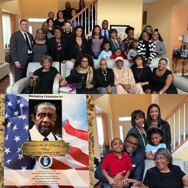 "Yesterday we had the funeral service of my dear uncle Thomas ""Bug"" Wilson, Jr.  in Maryland.  Uncle Bug was a retired Air Force Veteran.  He also brought me my first chest set and peaked my interest in the game.  It was great seeing my family and be on the lookout for the #Hamlar2020 reunion!  #family #familyreunion"