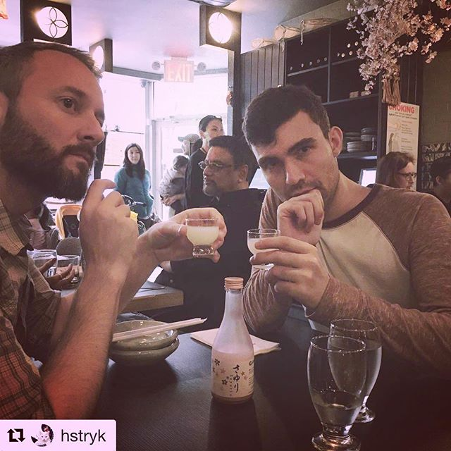 One of our first customers to win a free sake shot 🌸 #cheers #sake #shots #cherryblossom #springevent #nyceats #upperwestside #japanesefood #izakayaida #Repost @hstryk ・・・ Cherry blossom sake at #izakayaida 🌸🍶