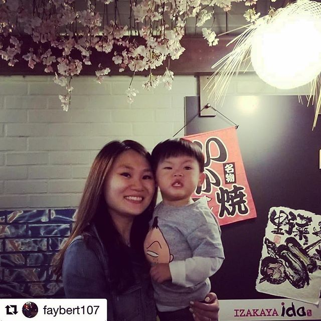 I am sure the free sake shot wasn't for the cute, little boy 👶🏻🌸🍶 cheers! #sake #izakaya #izakayaida #japanesefood #japanesegastropub #springevent #nyceats #nycfood #nyc #Repost @faybert107 ・・・ anything for a free sake shot #izakayaida #japanesefooduptown