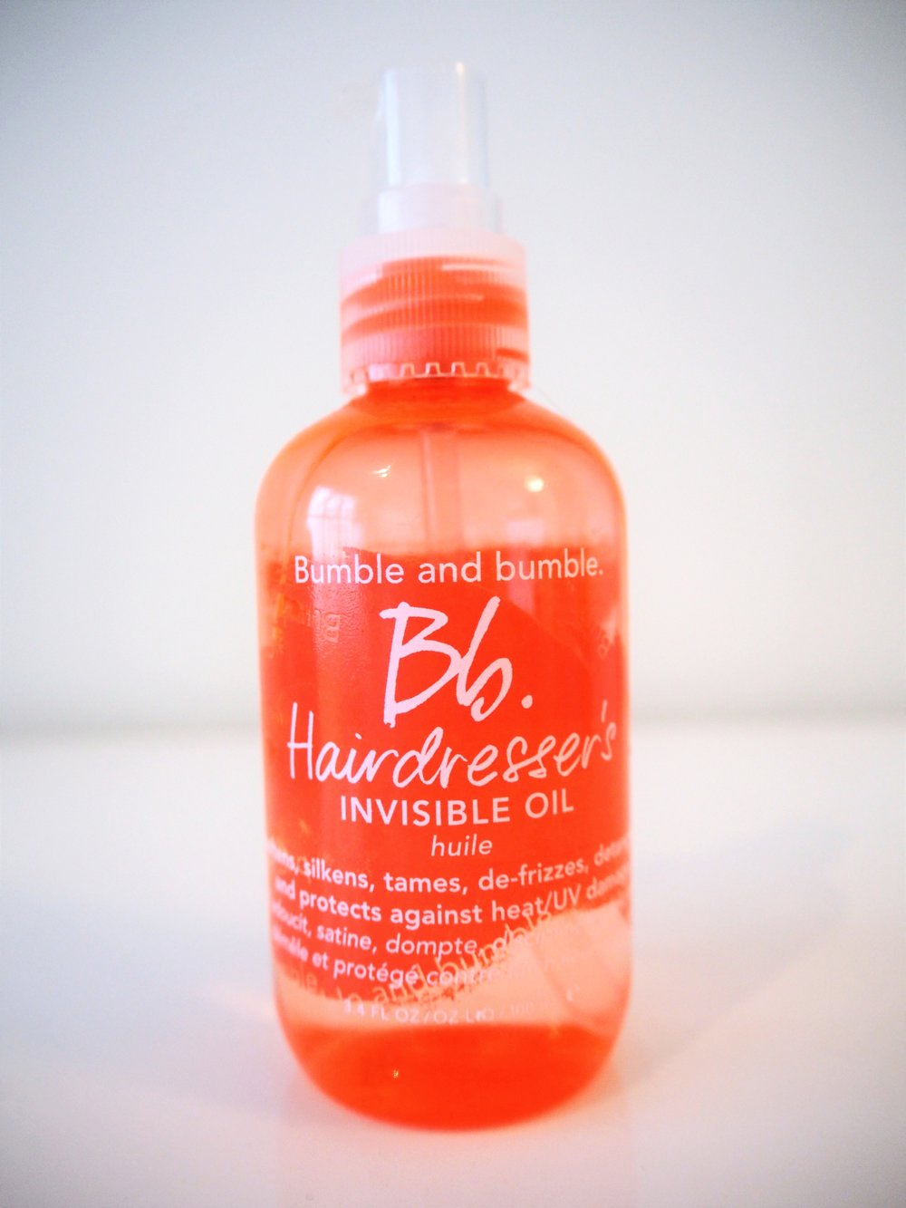 Bumble and bumble BB Hairdresser's INVISIBLE OIL - ahhhhmazing for styling and after washing.