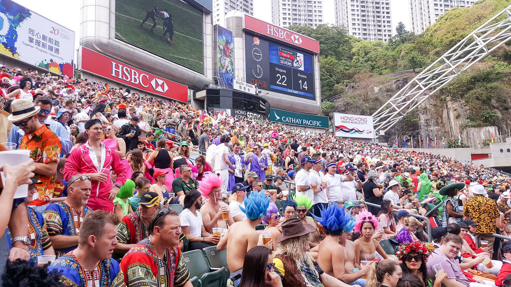 The South Stand at the Rugby Sevens
