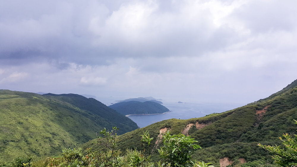 Views while hiking Hong Kong