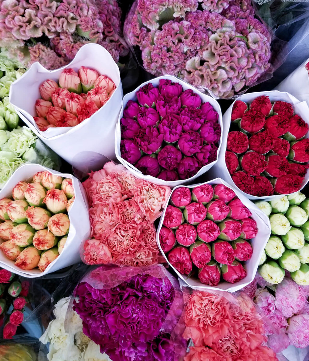 Flowers at the local market