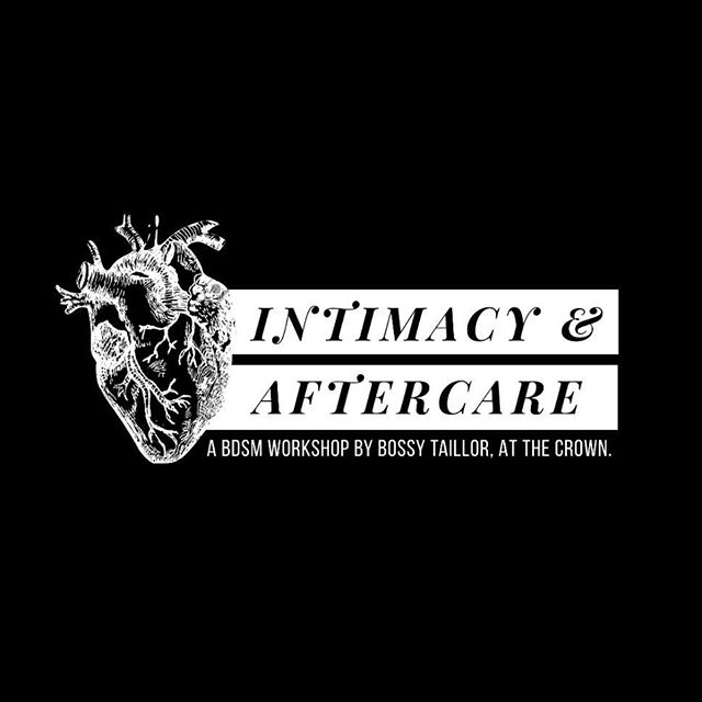 On Monday, February 25th, @bossytaillor will give you the opportunity to explore intimacy through kink.  _ From cuddling to ageplay, through harm prevention and guided communication — come learn tips & tricks for excellent aftercare. All are welcome to watch or participate. _ Type it up: aftercare.eventbrite.com _ #BDSMCommunity #BDSMWorkshop #Aftercare #TakeCareOfWhatsYours #QuemAmaCuida #BrooklynKink