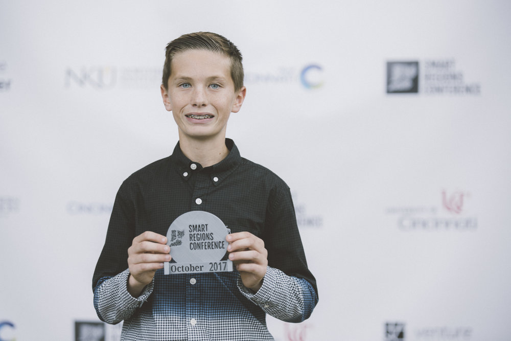 Awards were all 3D Printed! - Andrew, the 3D printing prodigy, made awards for nominees in real-time during the event.