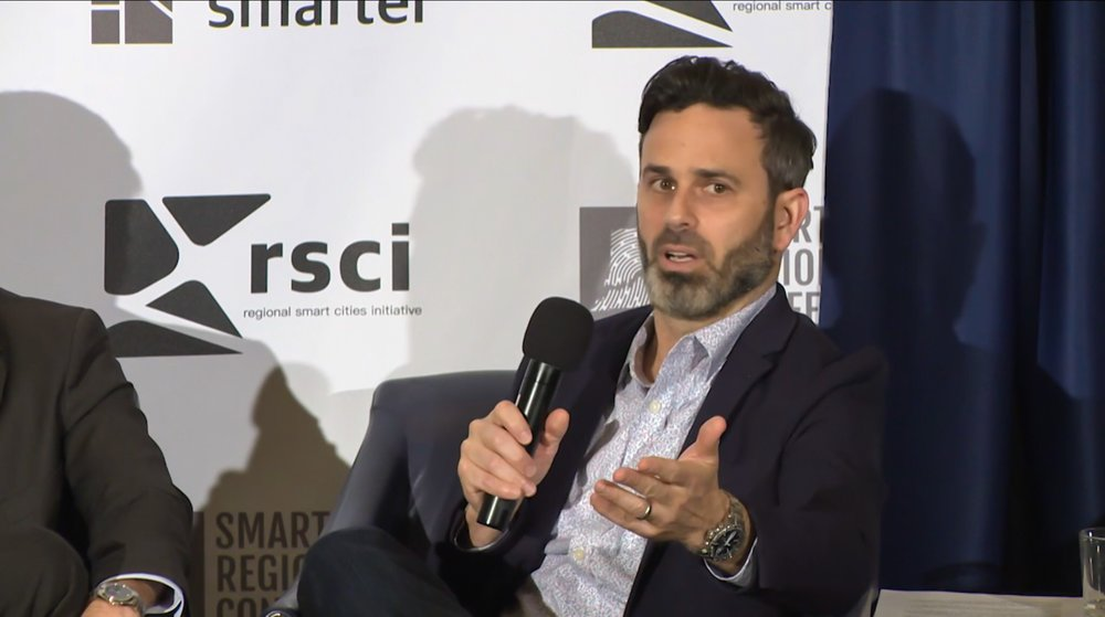 Gabe Klein , Co-founder of CityFi, speaking at the Smart Regions Congress presented by Venture Smarter.