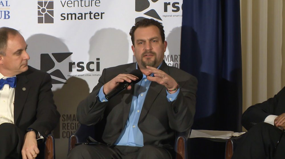 Chris Rezendes speaking as a panelist on  The Internet of Everything: Connectivity and Security in Smart Regions , at the Smart Regions Congress in Washington DC.