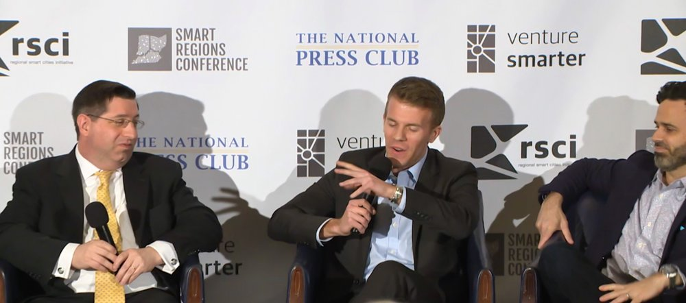 From L-R,  Jason Goldman  (Vice President, External Affairs and Stakeholder Engagement,   ITS America), Dave Barmore (Senior Public Policy Associate, Uber Federal Affairs), and  Gabe Klein  (Co-founder, CityFi)