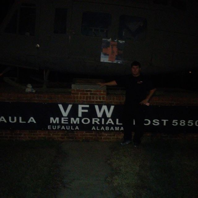 A little pre show visit and walk around at the VFW in Eufaula Alabama tonight
