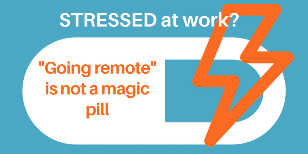 Going remote is nota  magic pill