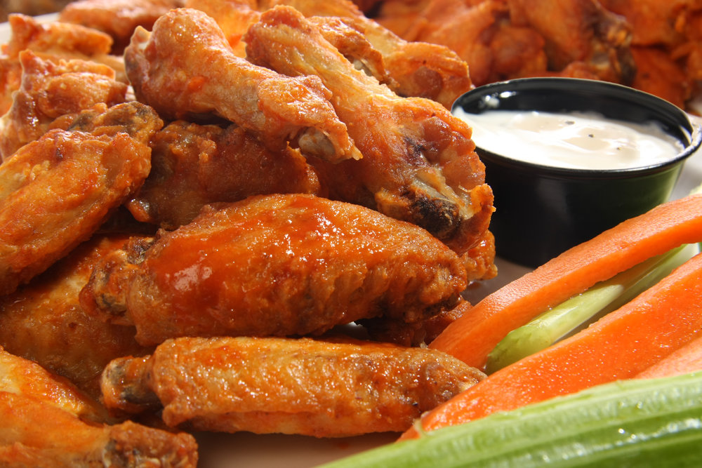 Mo Dat'Wings - Served with one Bleu Cheese or Ranch Dressing per 10 Wings