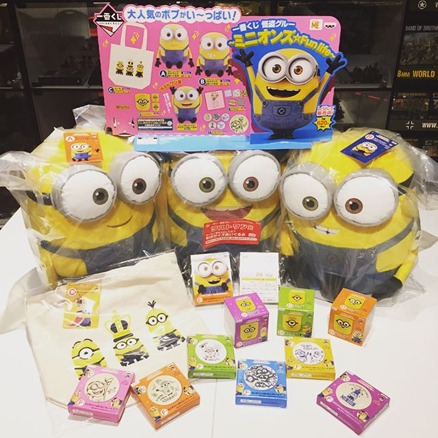 THE DESPICABLE ME MINIONS KUJI ARE BACK!!! Come and bring them home today, whilst prizes lasts! #despicableme #minions #minionskuji #minion