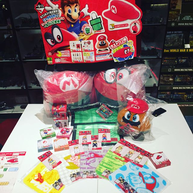SUPER MARIO ODYSSEY SERIES kuji is here! Take a shot and try your luck, you might just win any of these cool SUPER MARIO plushies and prizes! #supermarioodyssey #kuji #ichibankuji #supermario #mario