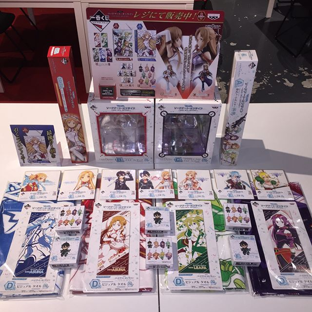 -NEW KUJI!- SAO WILL RETURN kuji is finally here!! With so many prizes to win, you won't go home empty handed! Hurry, whilst stocks lasts!  #saokuji #sao #kuji #saowillreturn #saowillreturnkuji #swordartonline
