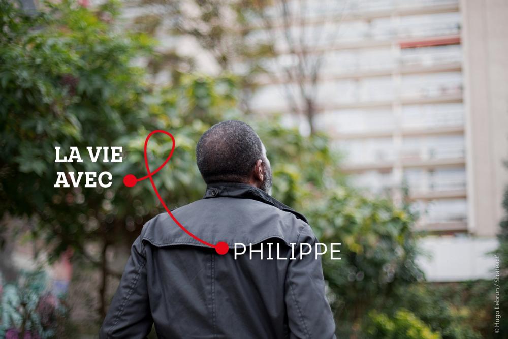 «  Il faut aussi prendre soin de soi, ne surtout pas devenir négligeant avec son traitement comme je l'ai été. Et puis, se protéger. Toujours.  », Philippe, Personne vivant avec le VIH.