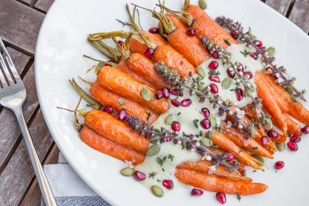 maple roasted carrots from vivacious dish