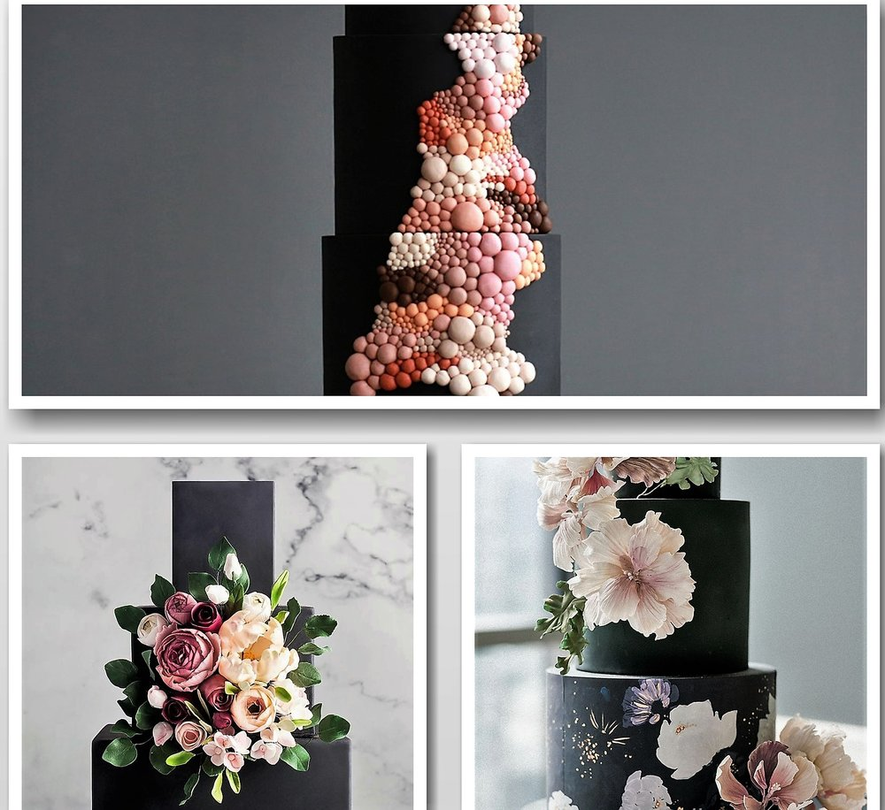 https://greenweddingshoes.com/14-of-the-most-chic-unexpected-black-wedding-cakes