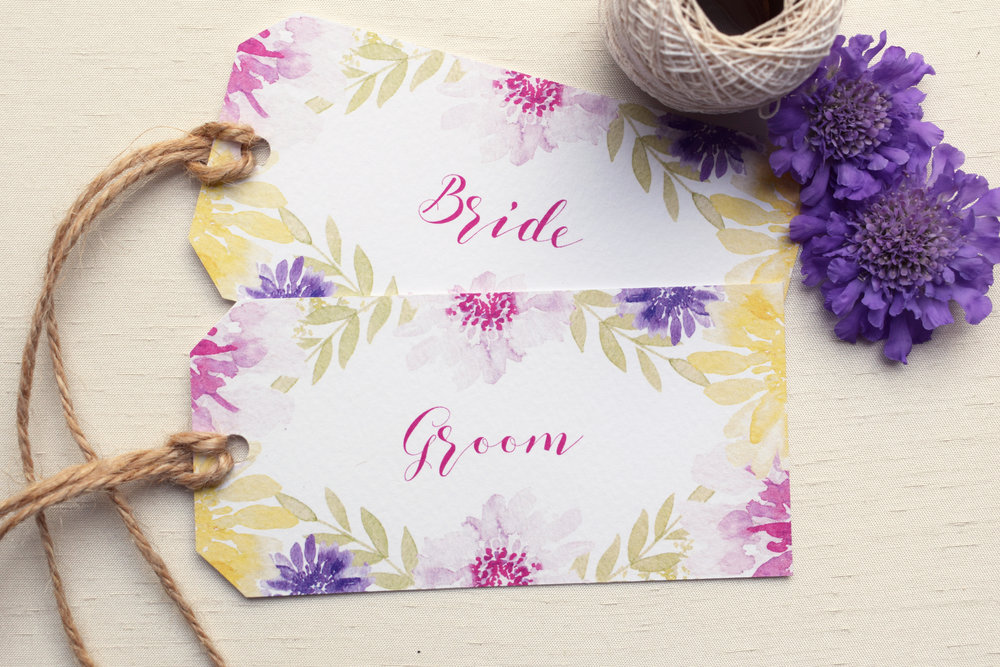 Bloom Floral Wedding Parcel Tags.jpg