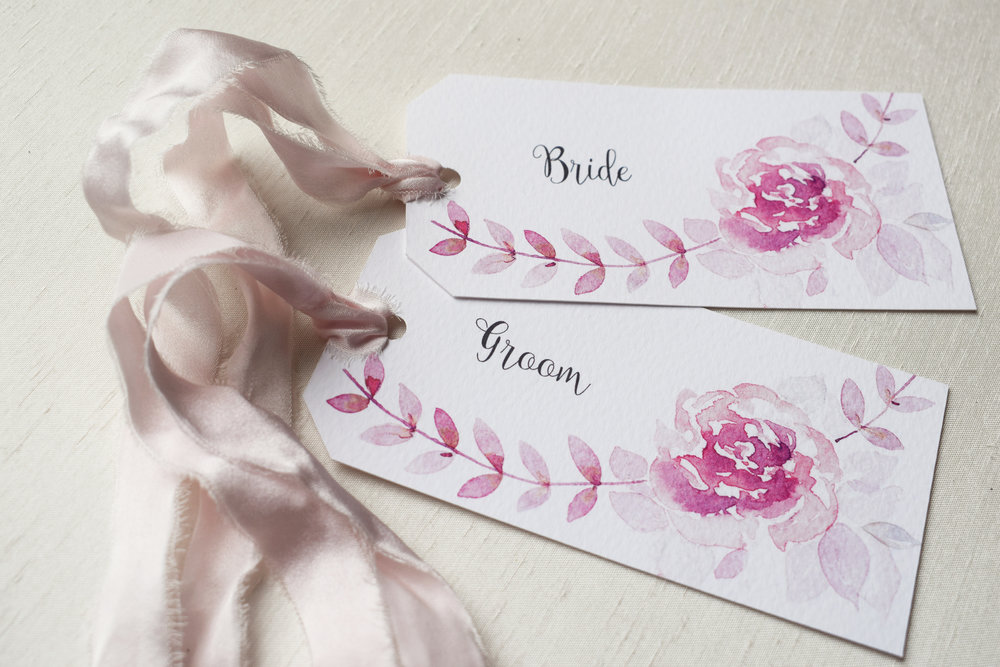 Watercolour Rose Wedding Place Tags.jpg