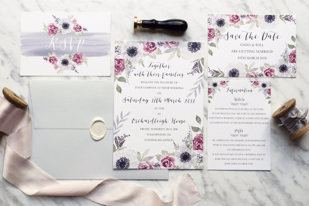 Secret Garden Wedding Stationery Collection