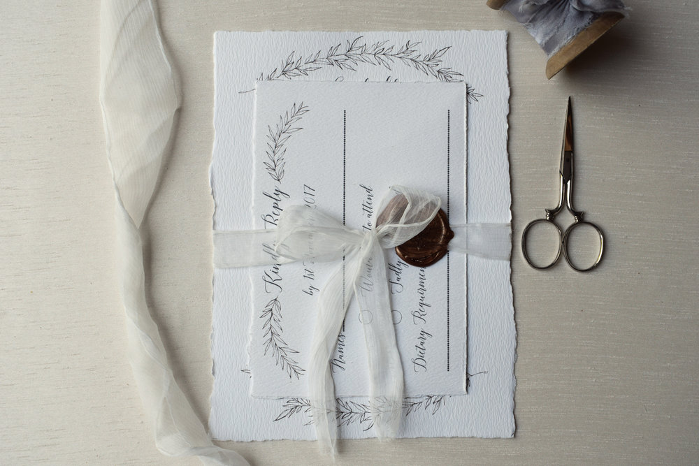 Fine Art White Invitation set.jpg