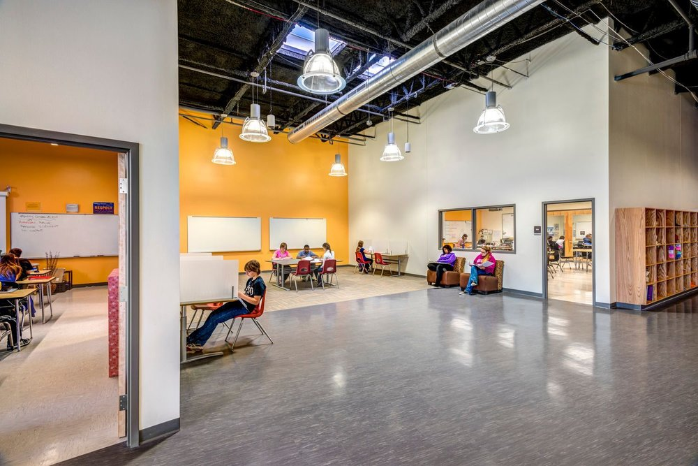 Dayton STEM students study in flexible school spaces including private areas, group spaces and classrooms.jpg