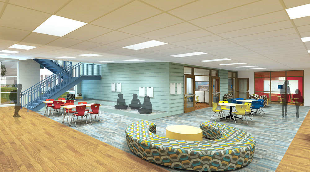 A flexible space at Chillicothe Intermediate School, designed by SHP.