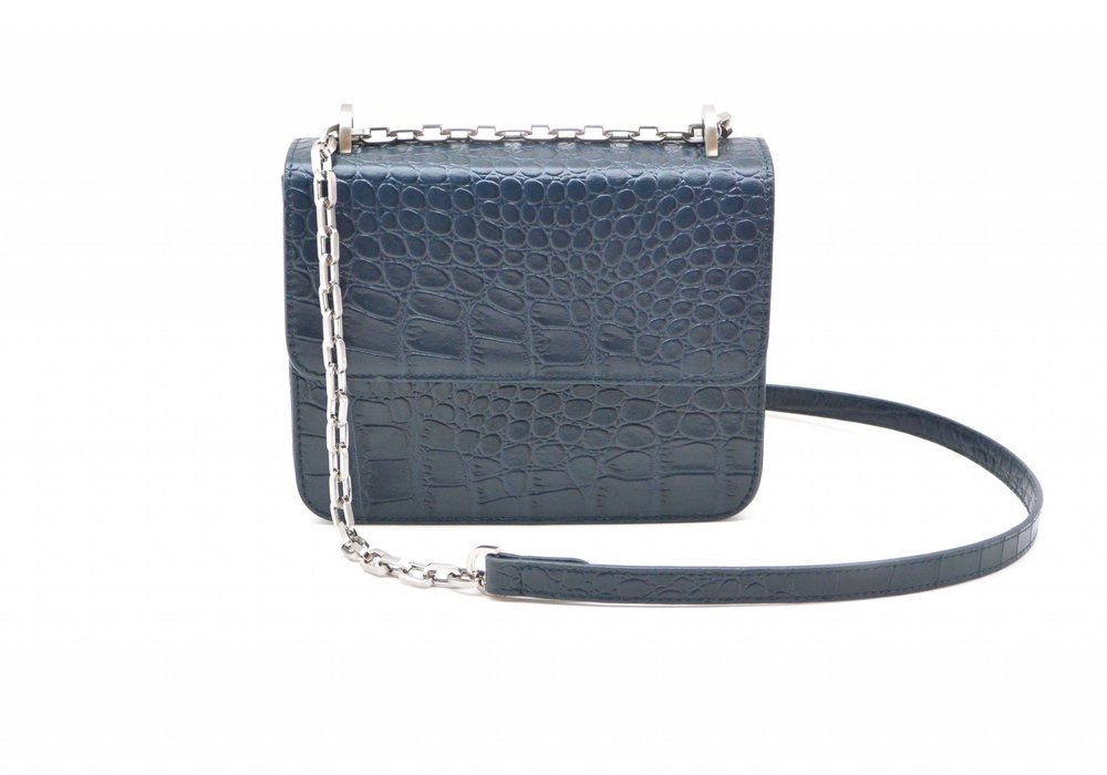 DENISE ROOBOL  MINI CRUISE BAG, BLUE CROCO  €135