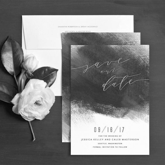 Gray Starling Design Wedding Stationery