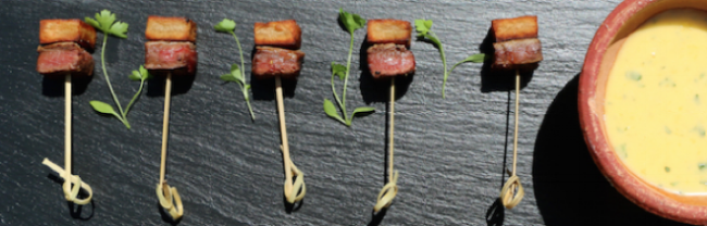 Rare fillet steak Wedding Party Canapé
