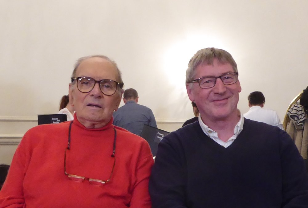 With Ennio Morricone