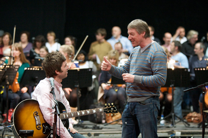 In rehearsal with Noel Gallagher