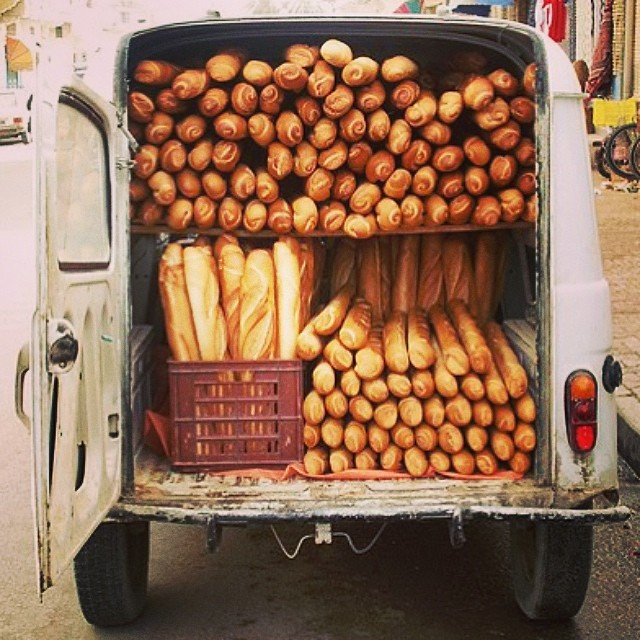 French bakery truck