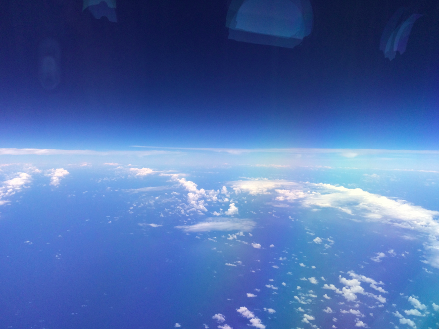 above the Caribbean