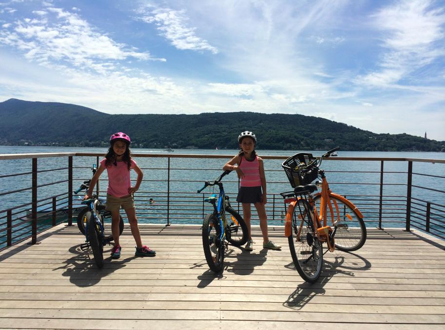 Biking, family fun, Lake Annecy France