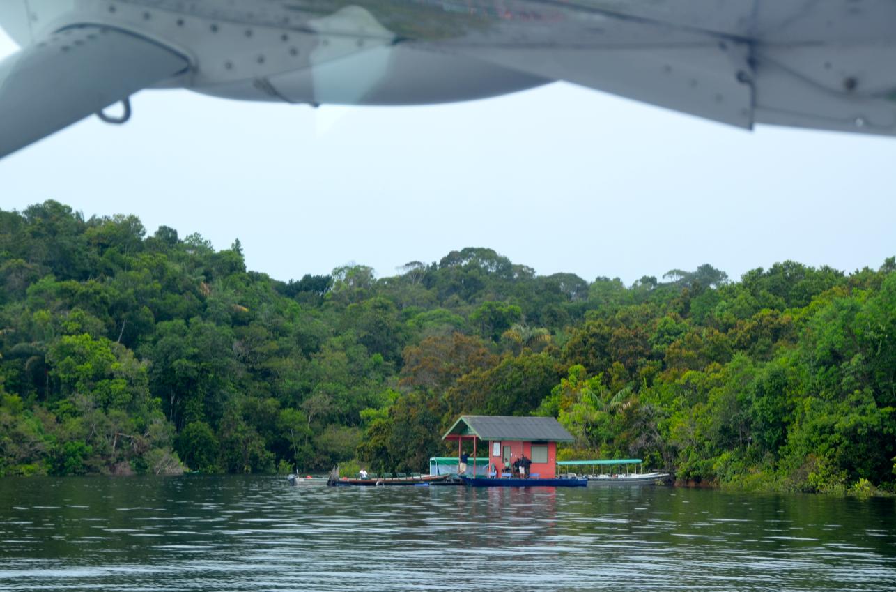 Float Plane Arrival, Anavilhanas Jungle Lodge