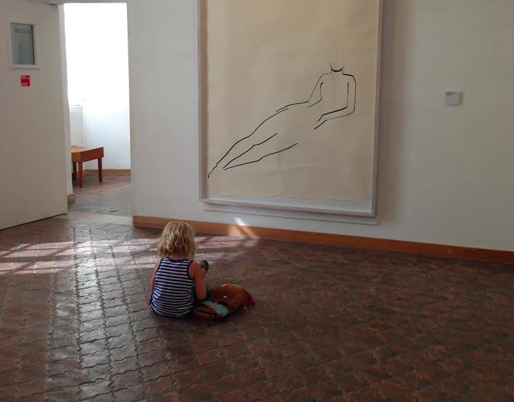 sketching at the museum