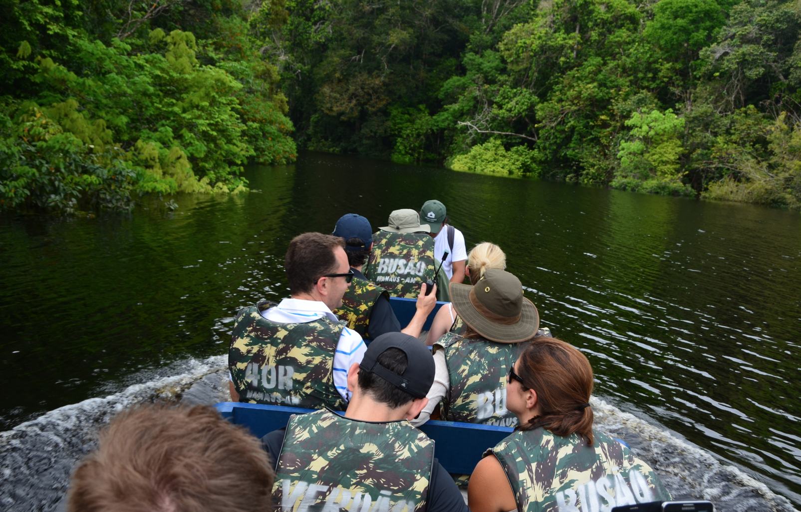Setting out on our guided tour of the Rio Negro.