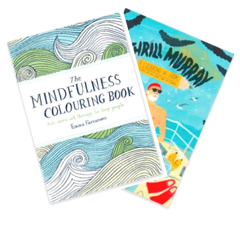Coloring Books for Grown ups: The Mindfullness Colouring Book and Thrill Murray by Bill Murray.